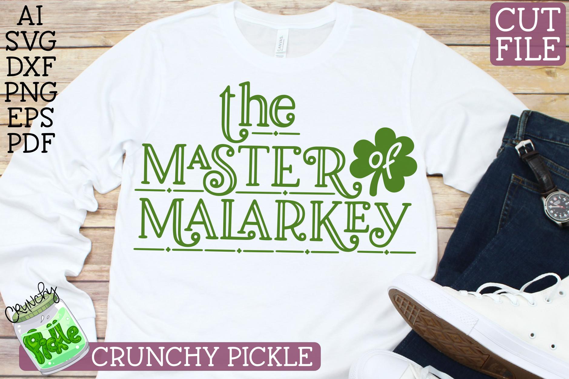 Master of Malarkey St. Patrick's Day SVG File example image 3