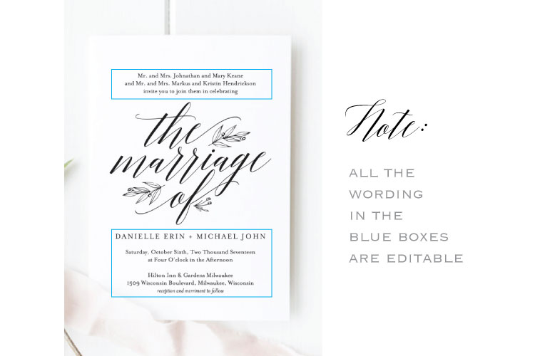 Wedding Invitation Bundle example image 3