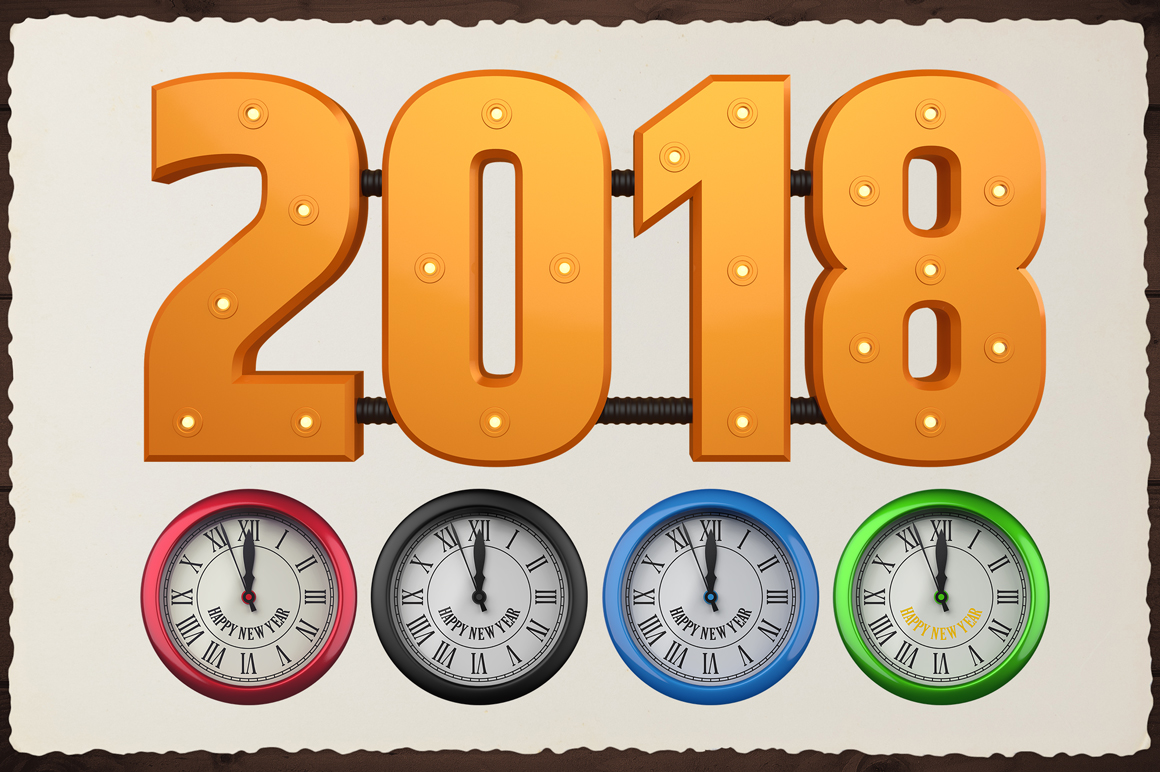 New Year 3D PNG Items Pack example image 11
