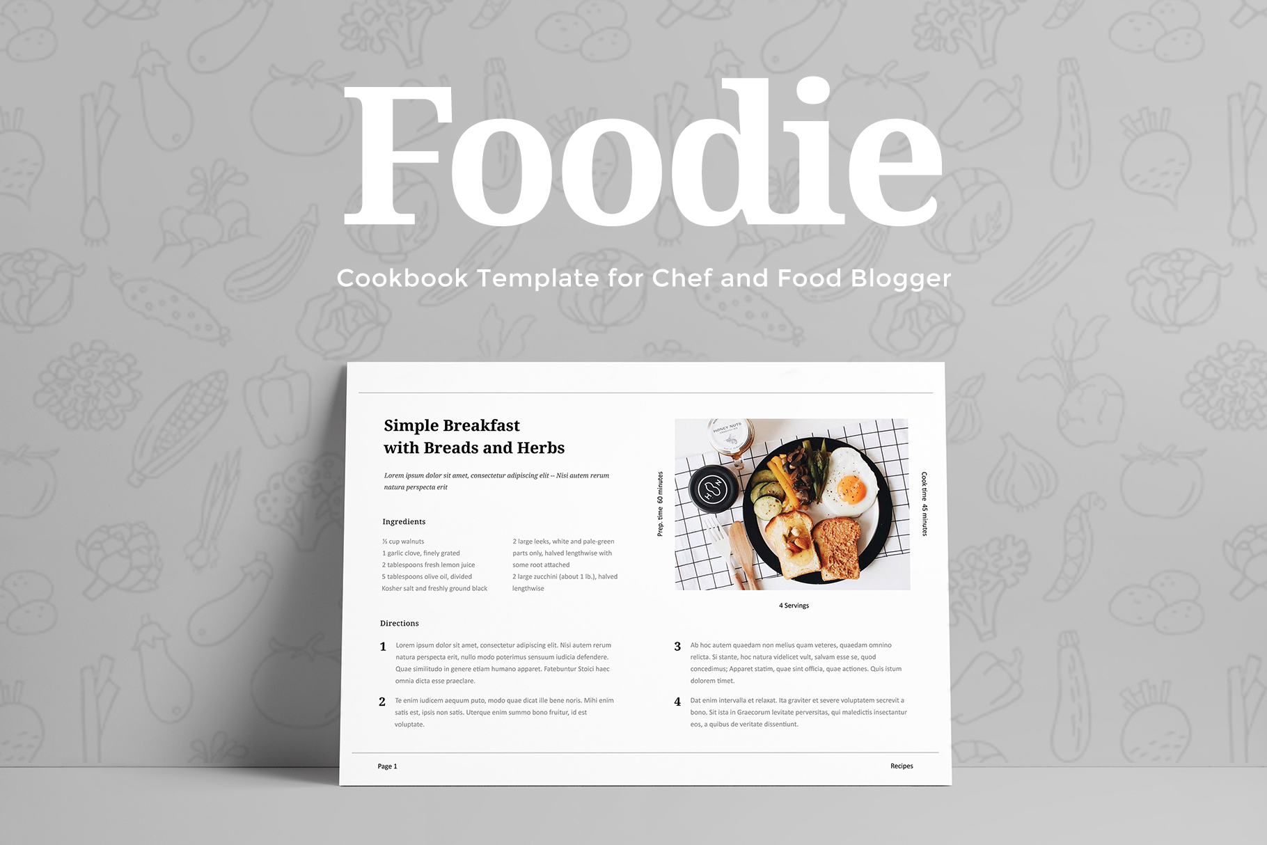 Foodie - Cookbook Template example image 4