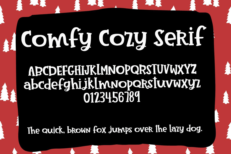 Comfy Cozy Font Trio- Sans, Serif & Doodle Font Bundle example image 3