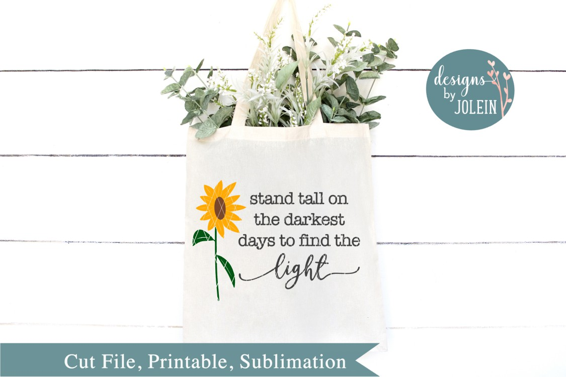 Stand tall on the darkest days SVG, png, eps, dxf, sublimati example image 2