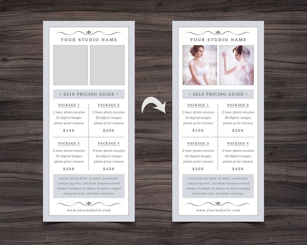Photography Rack Card Template example image 3
