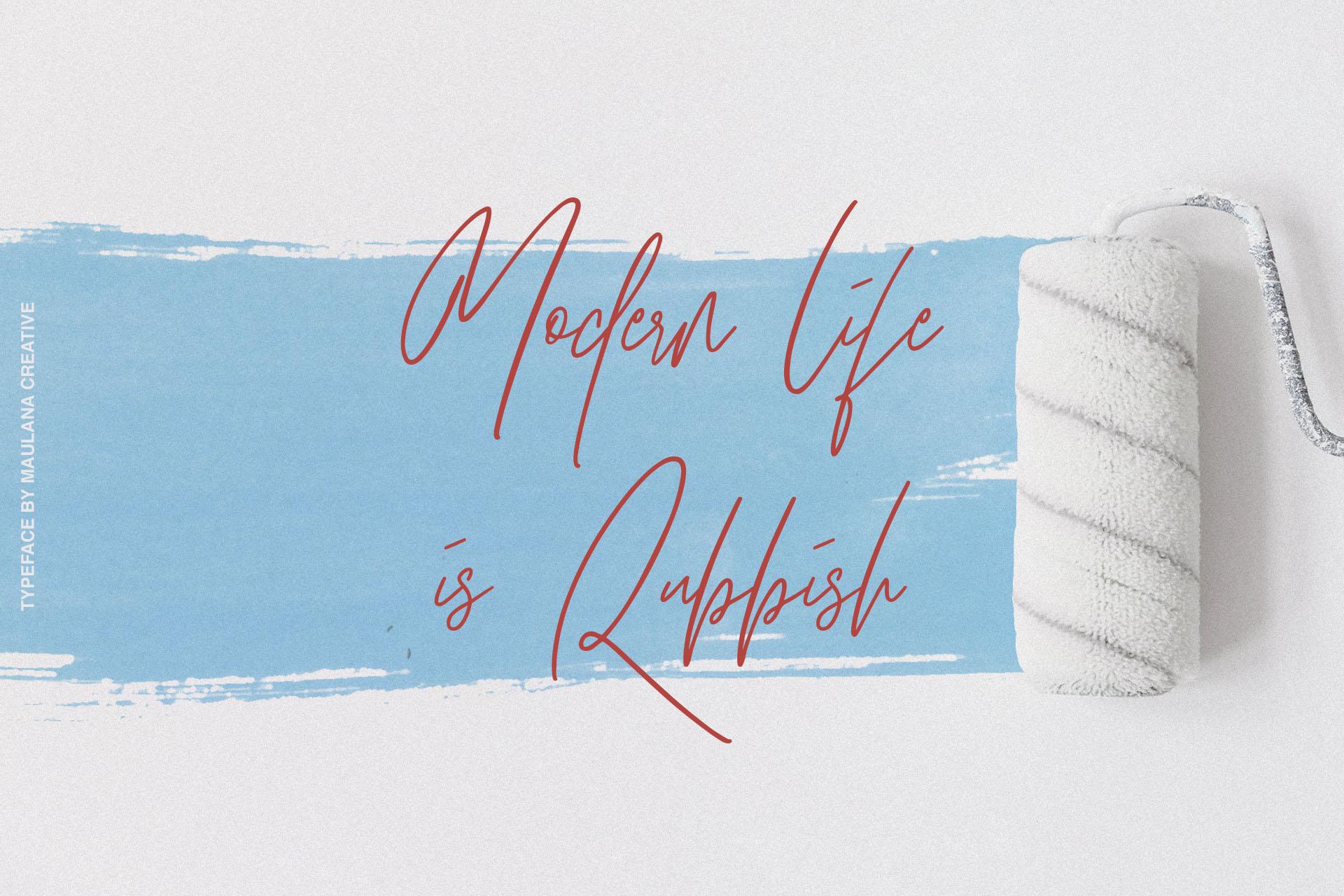 Hawkins Signature Brush Font example image 3
