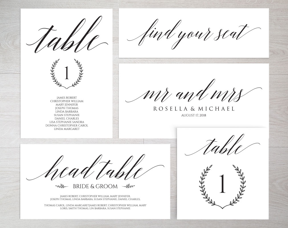 Wedding Seating Chart set TOS_19 example image 3