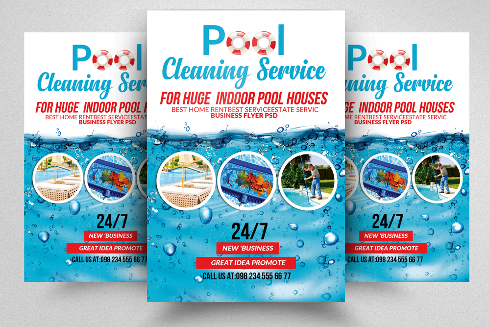 pool service flyers. Pool Cleaning Service Flyers Example Image 1 E