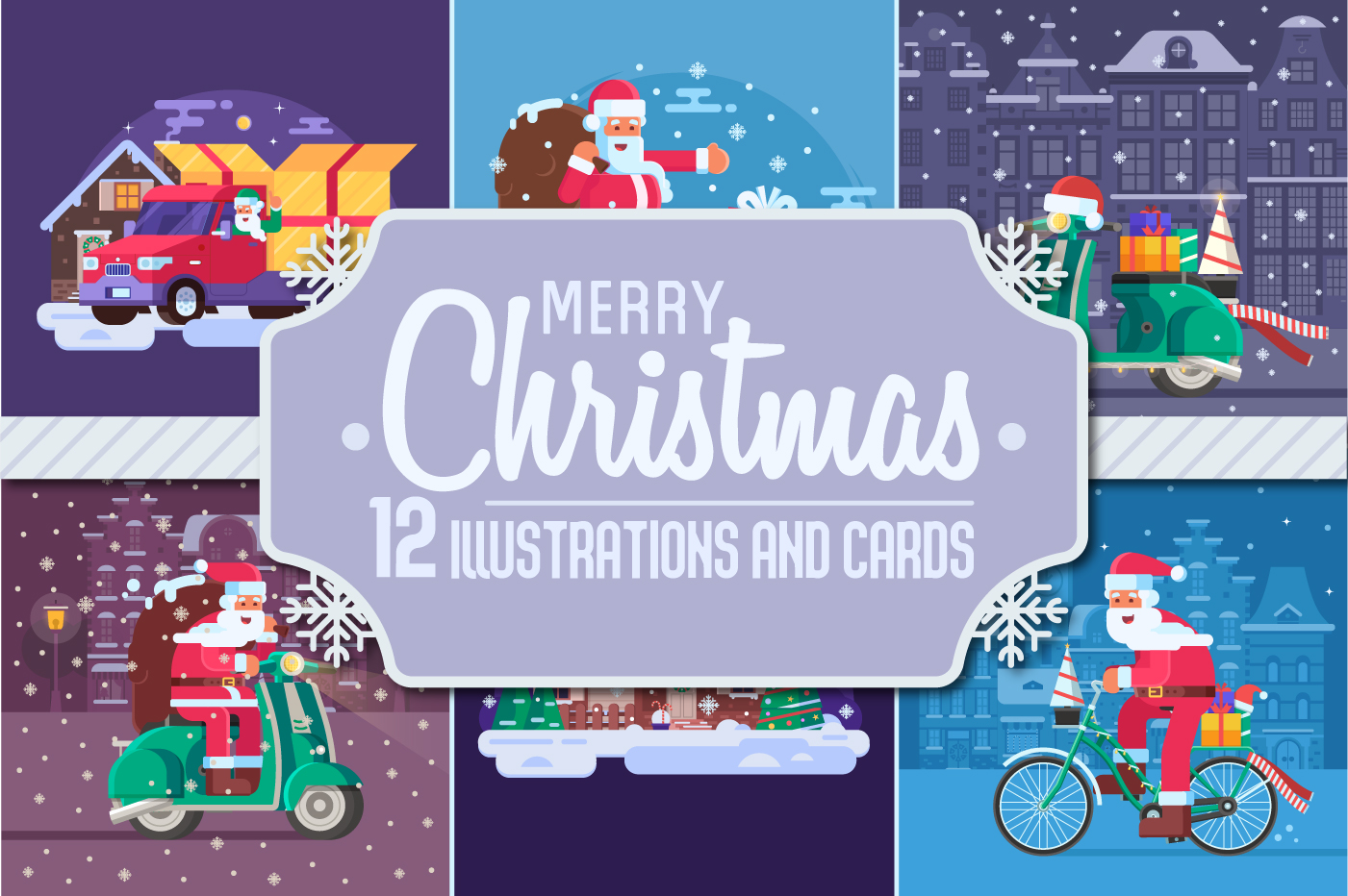 Santa Delivery Service Cards and Scenes example image 1
