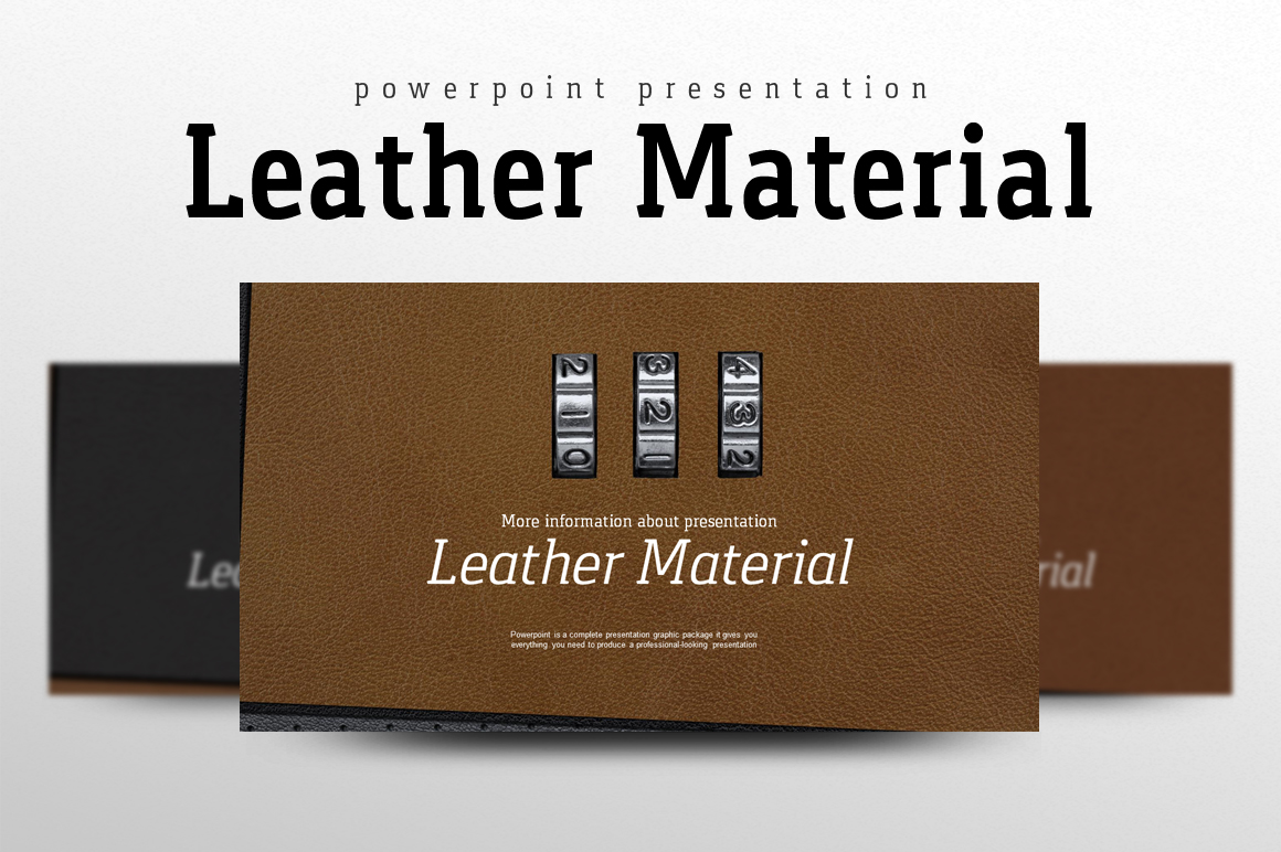 Leather PowerPoint Template example image 1