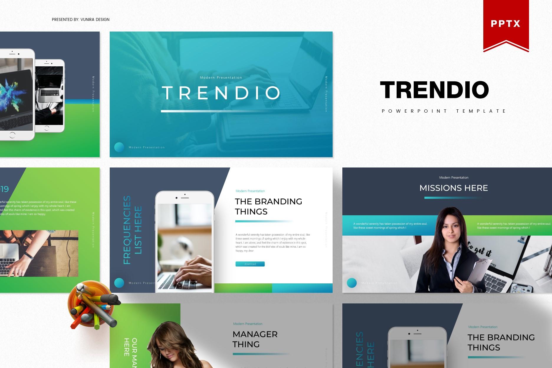 Trendio   Powerpoint, Keynote, GoogleSlides Template example image 2