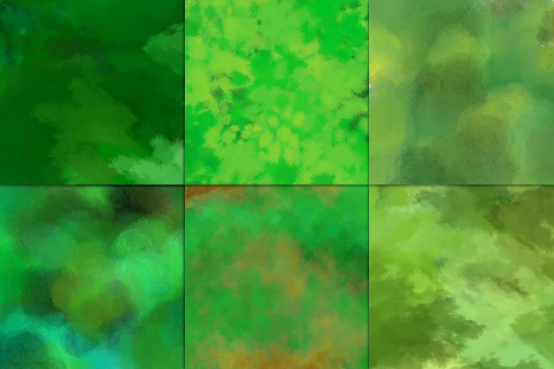 Emerald Watercolor Digital Paper example image 3