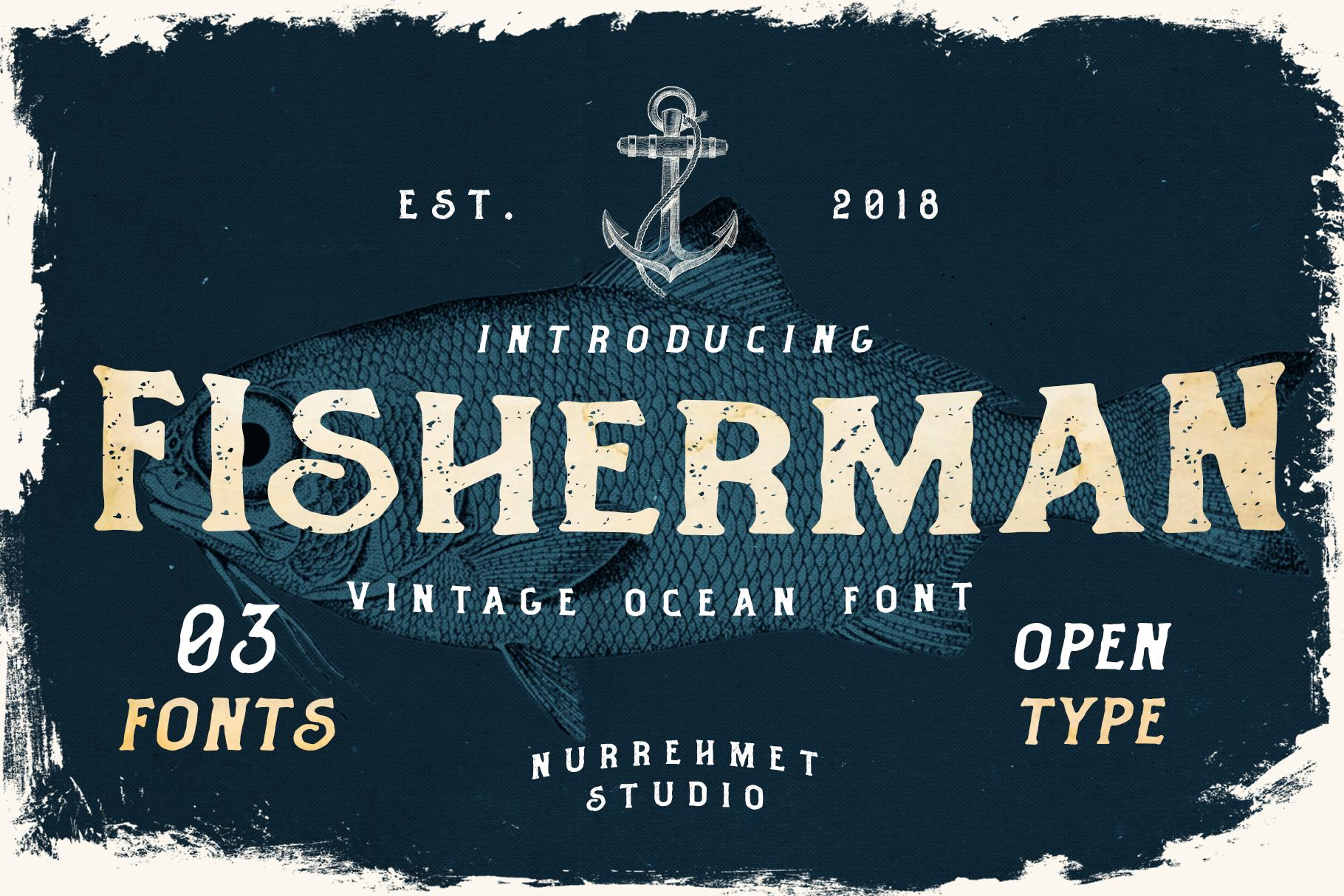Fisherman - Vintage Ocean Font example image 1