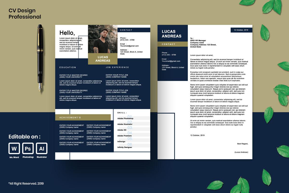 Resume Template CV Mega Bundles Professional !! example image 11