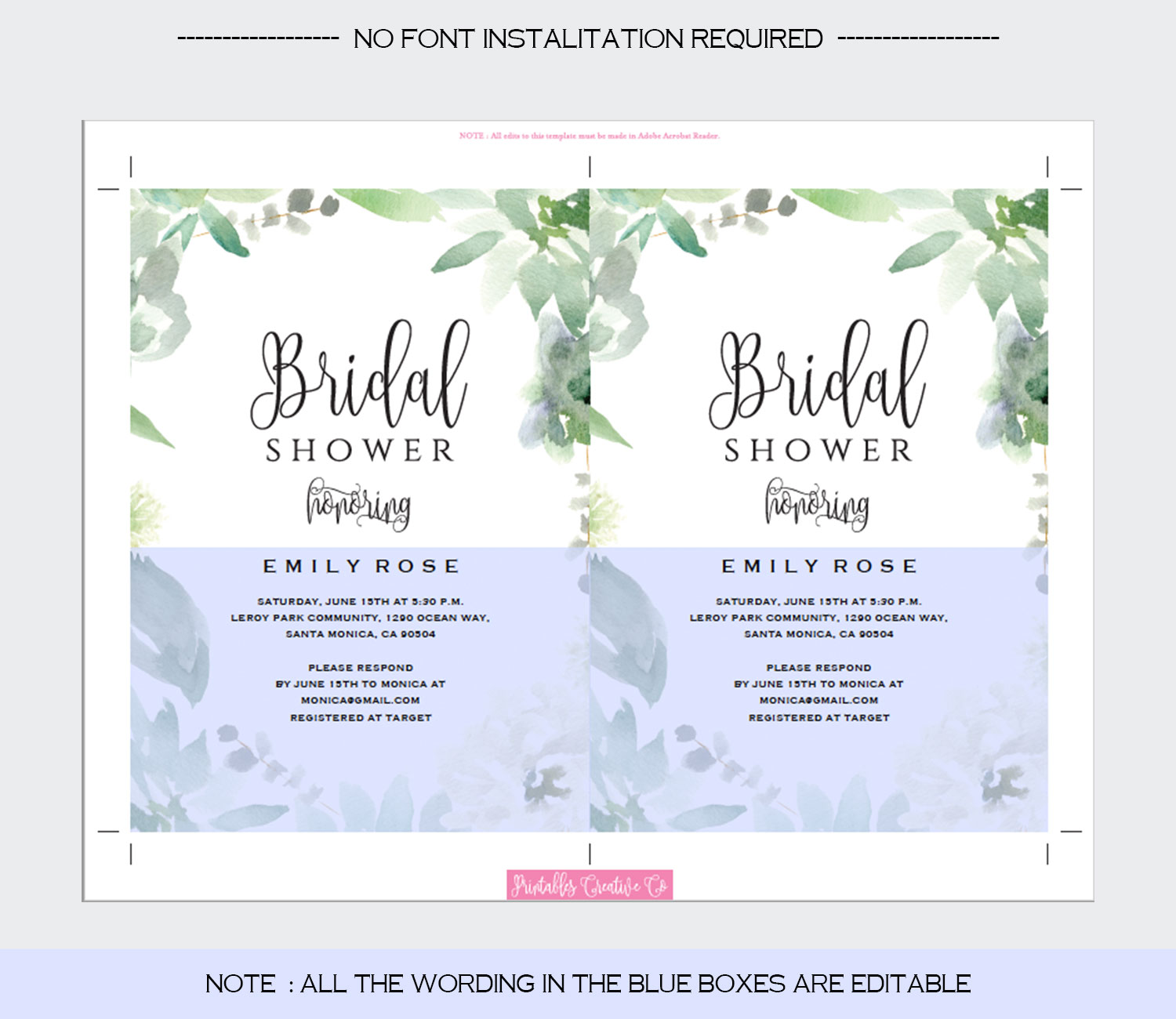 Bridal Shower Invitation Template example image 5