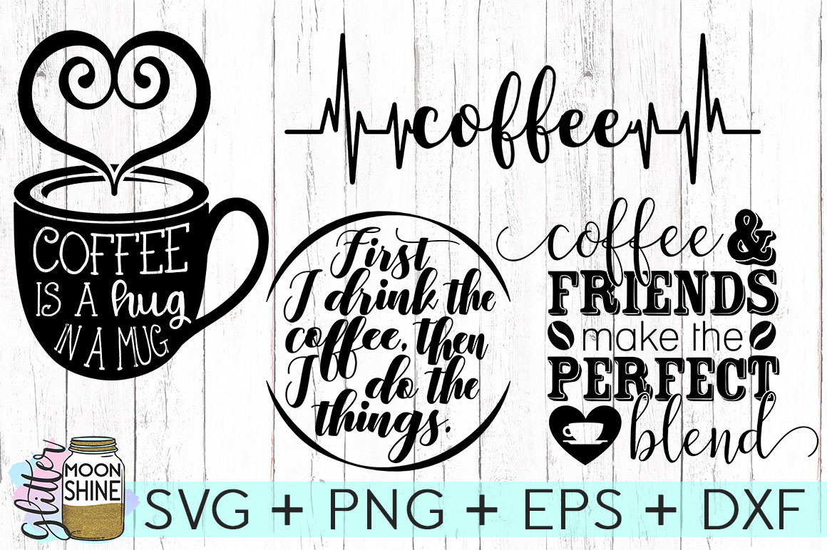 Coffee Lovers Bundle Of 16 SVG DXF PNG EPS Cutting Files example image 5
