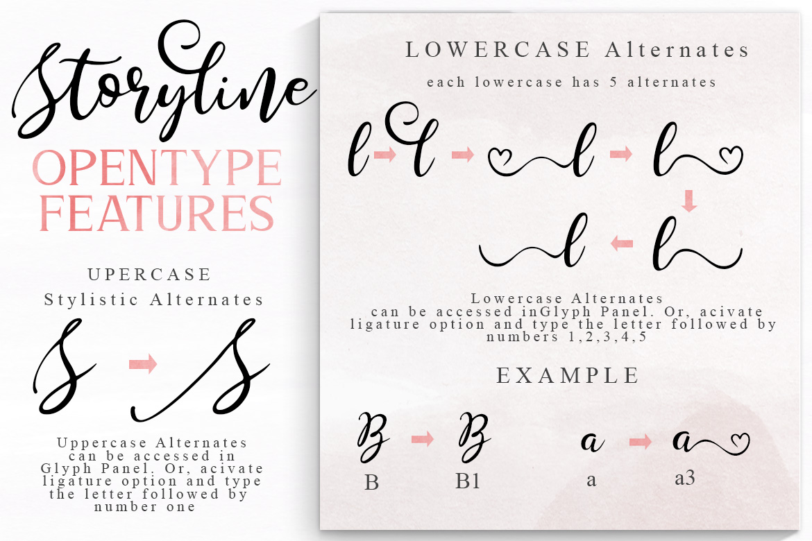Storyline Font & Watercolour Pack example image 4