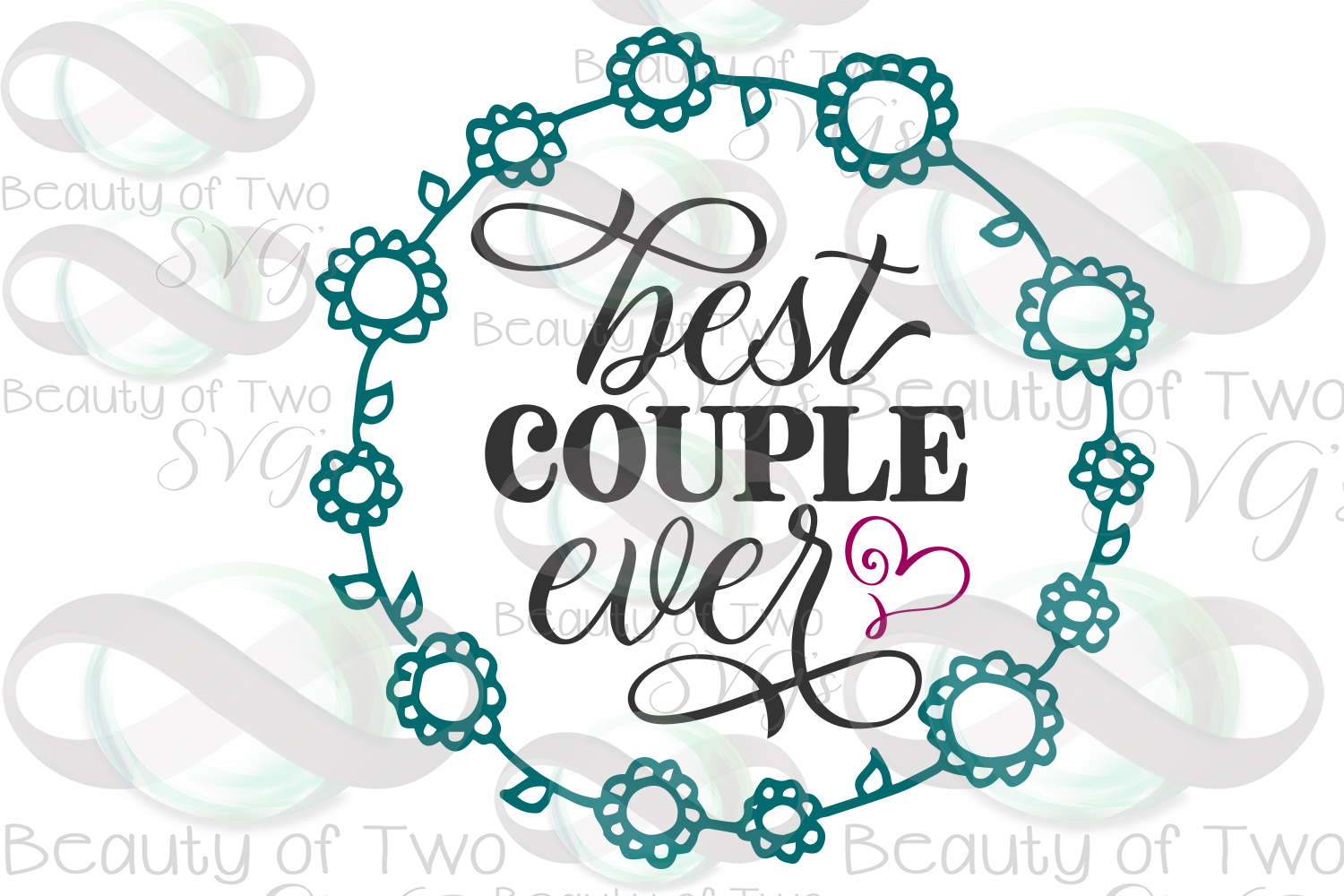 Wedding sign svg & png, Best couple ever svg, Wedding Gift example image 3