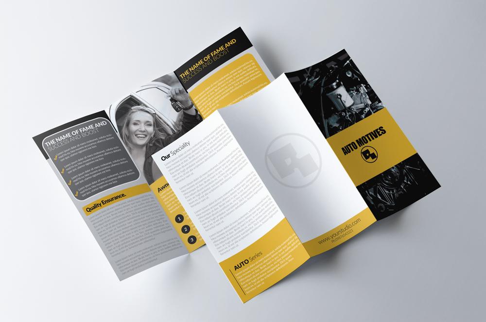 Automobile Service Tri-Fold Brochure Template  example image 2