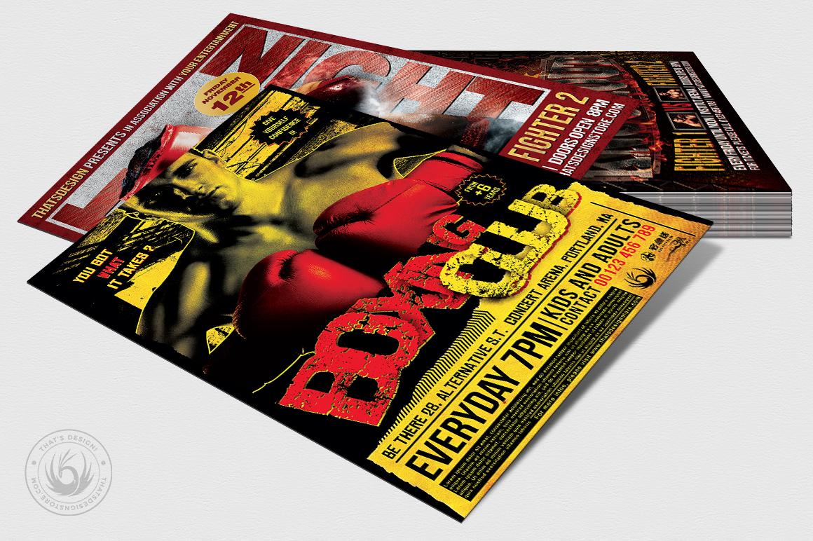 Fight Night Flyer Bundle example image 4