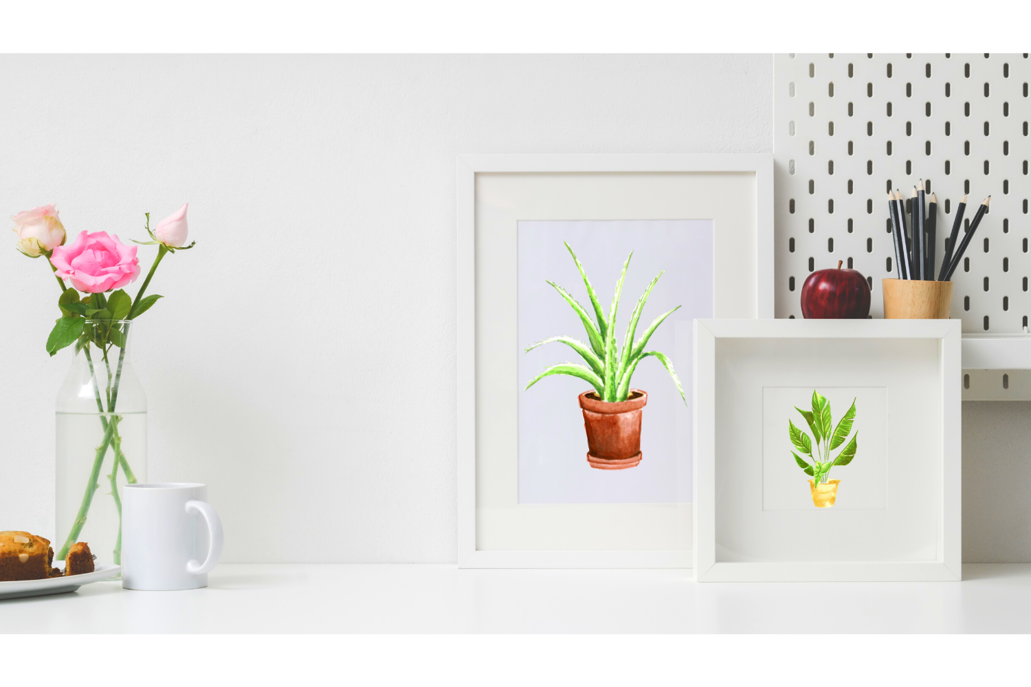 10 Indoor Plants Watercolor Clipart, Garden & Cactus Decor example image 6