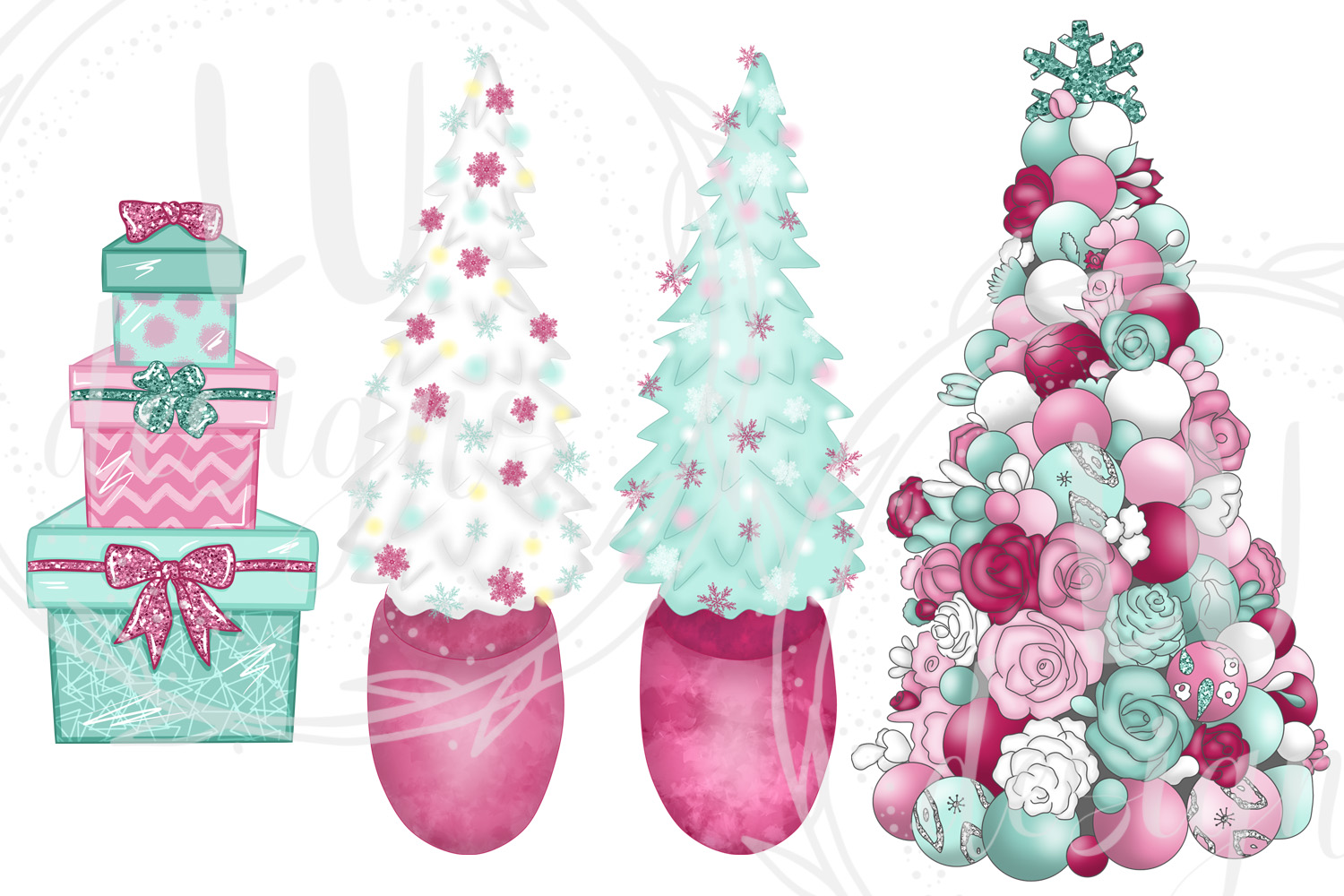 Christmas Clipart, Holidays Graphics, Winter Clipart example image 6