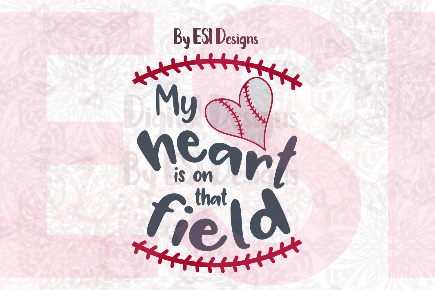 My Heart is on that field - Baseball example image 1