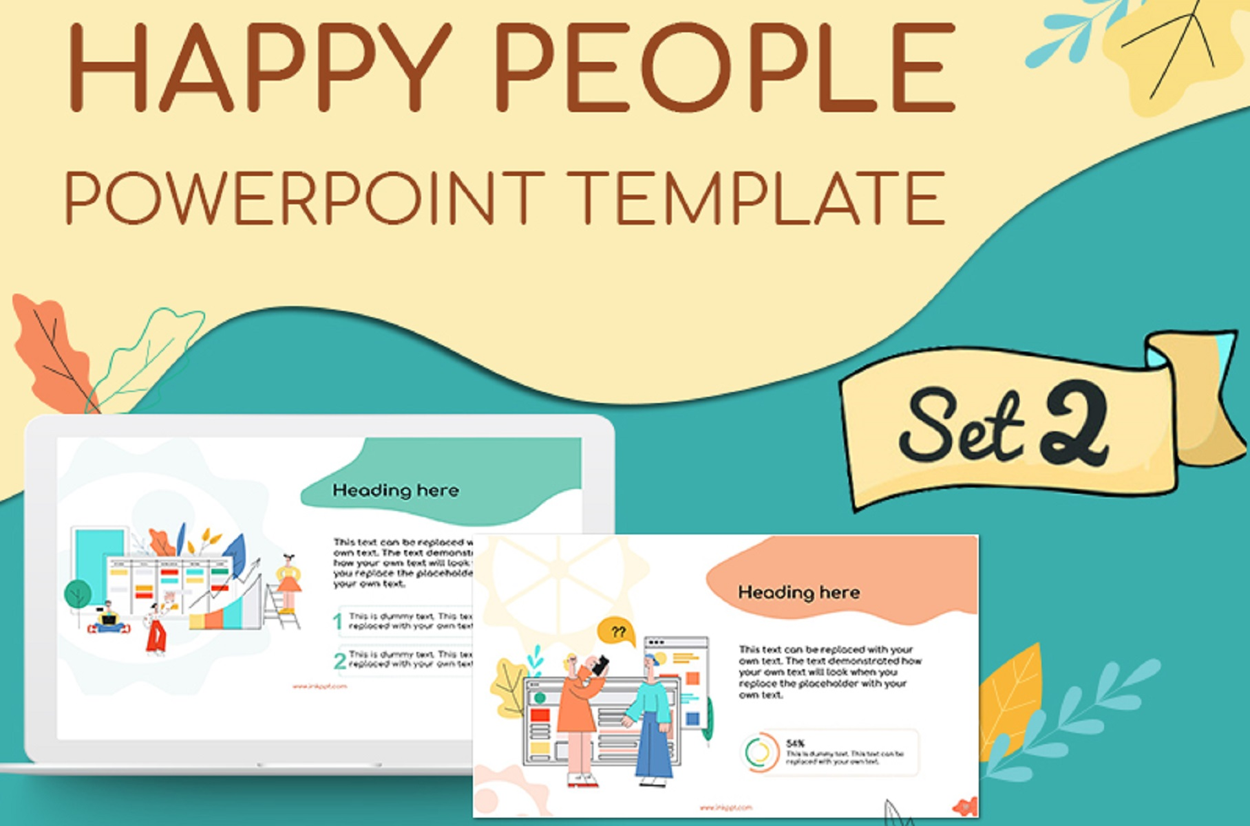 Happy People Set 2 Presentation Template example image 1