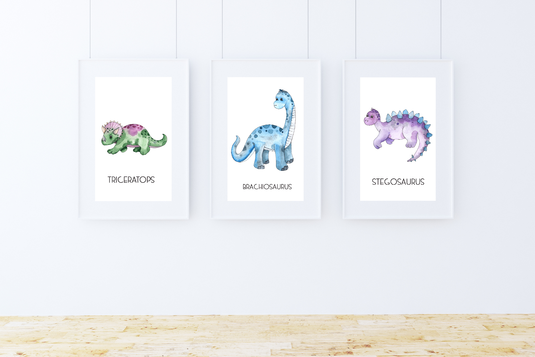 Dinosaurs. Watercolor clipart example image 3