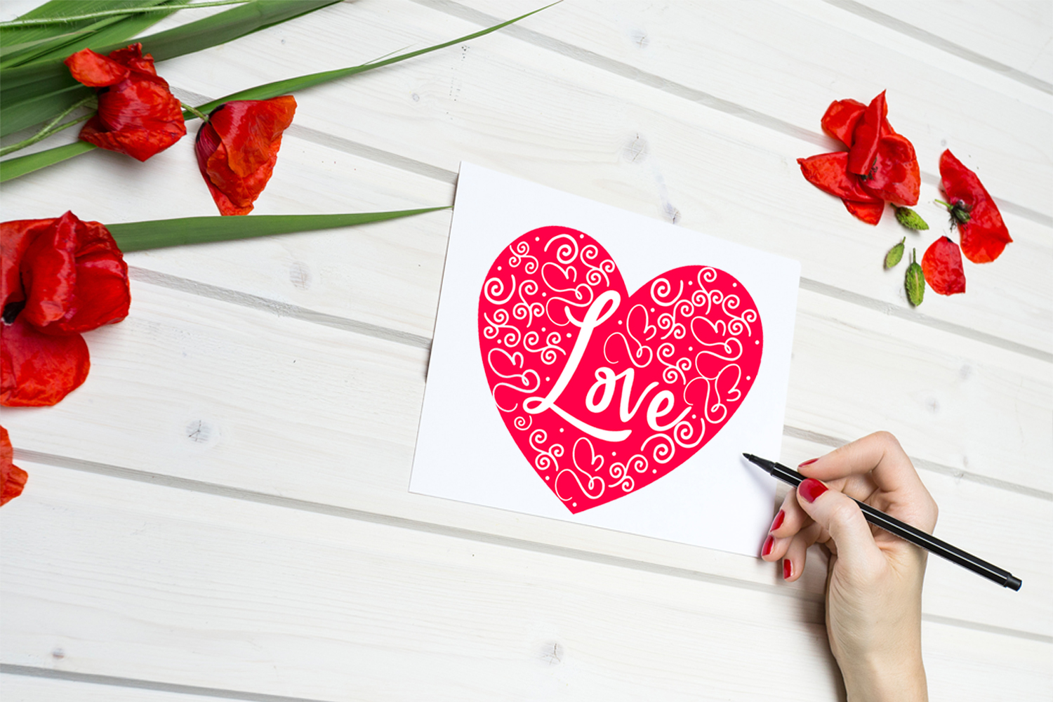 Cute Valentine's Day Cards- Printable Valentines Day Cards example image 2