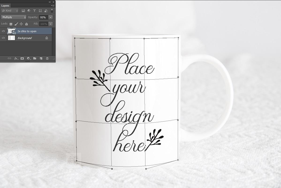 Mug mockup modern 11 oz coffee psd smart white coffee mugs example image 2