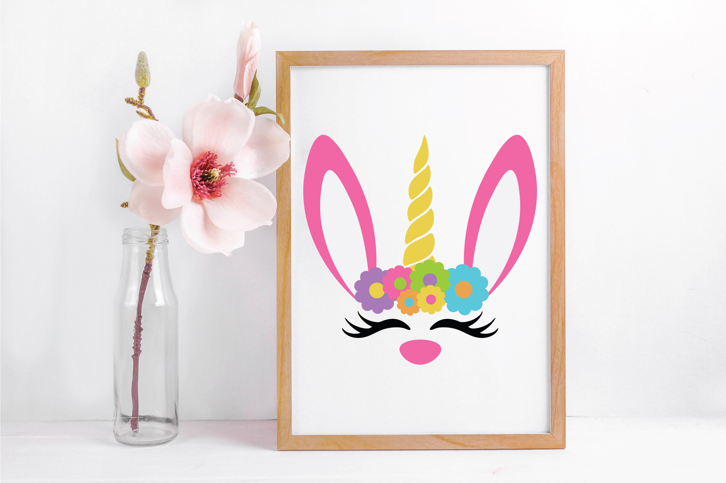 Easter SVG Cut File - Unicorn Bunny SVG DXF EPS PNG JPG AI example image 5