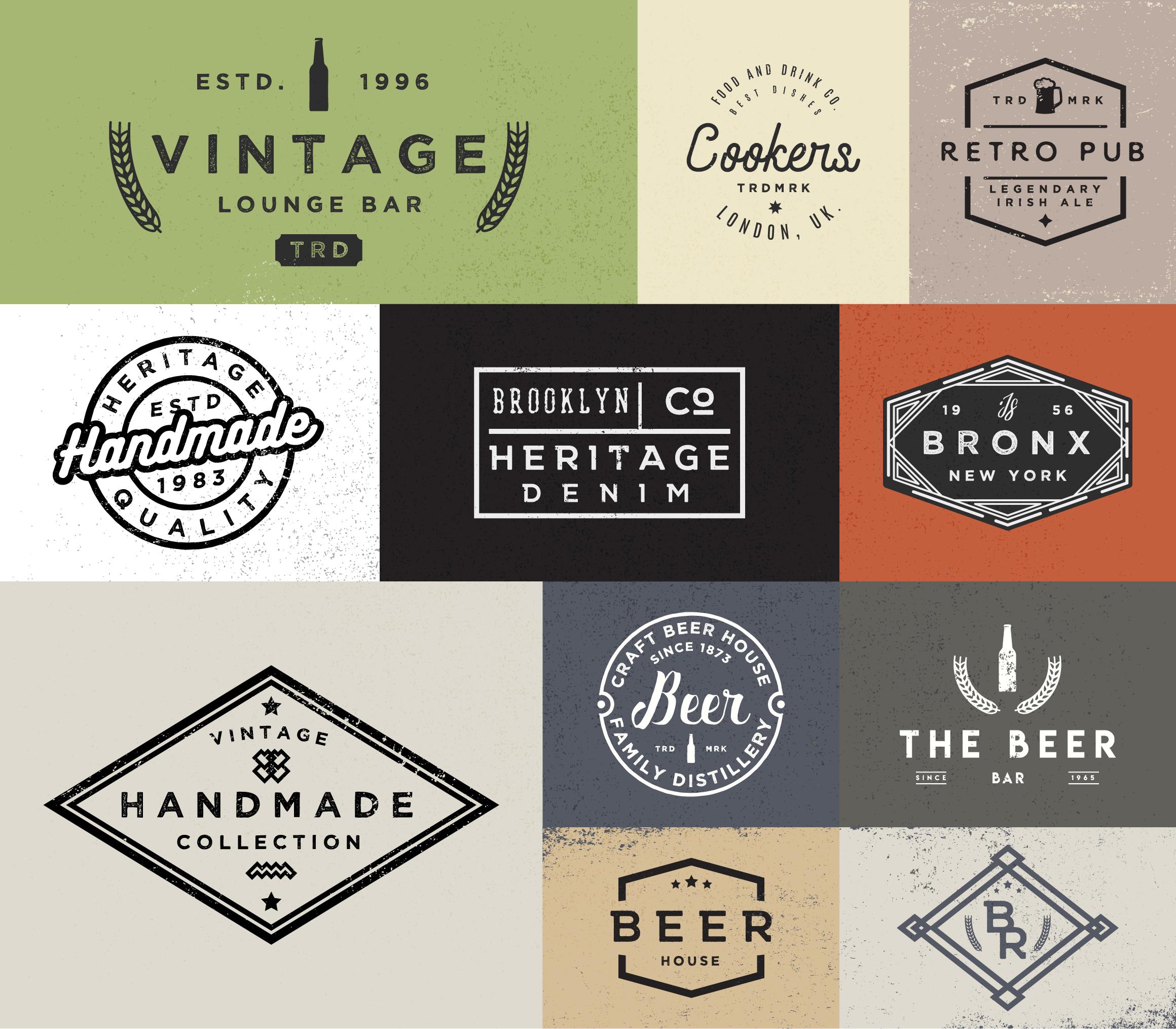 Vol.1   Vintage Logo Templates example image 2