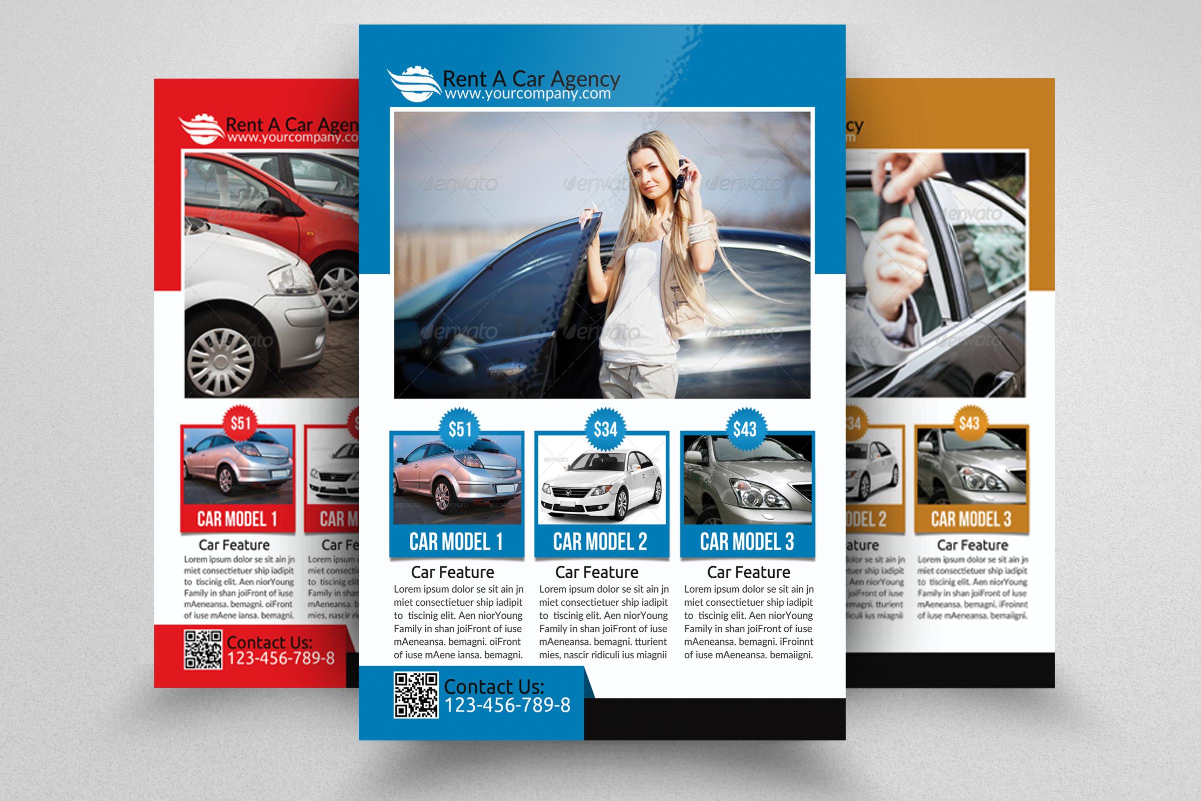 6 Rent A Car Flyers Bundle example image 7