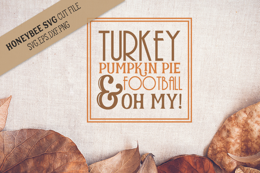 Turkey Pumpkin Pie Subway Art svg example image 1