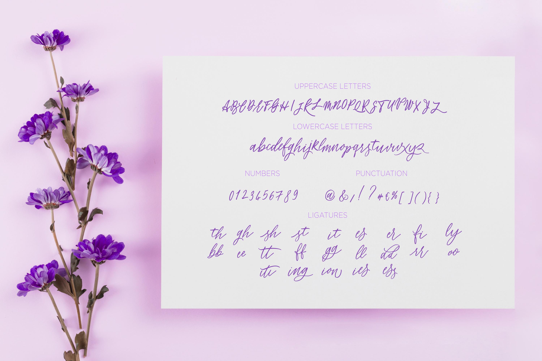 Flower Power script font example image 5