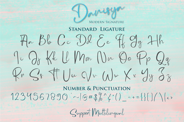 Danisya Modern Signature example image 10