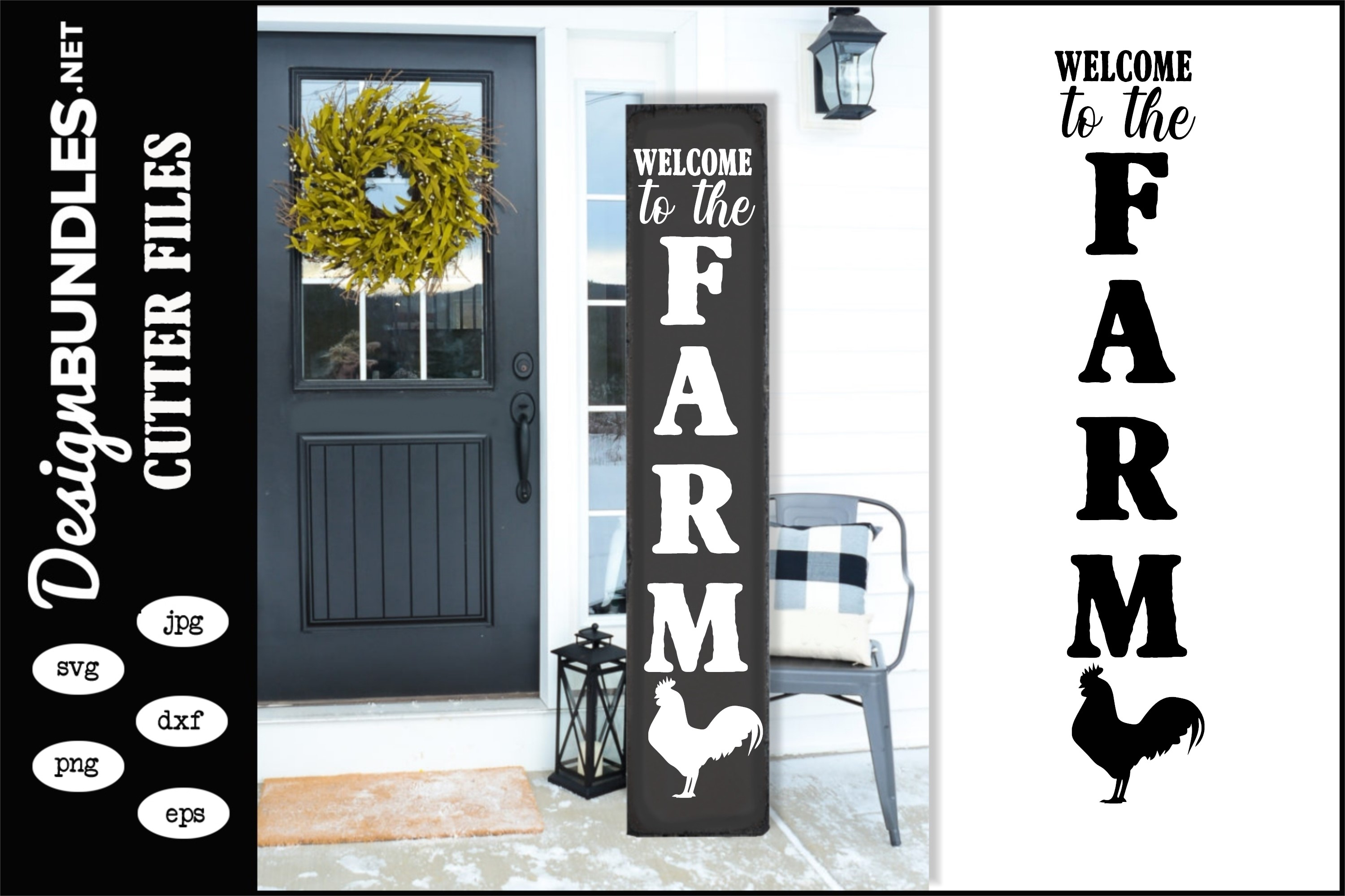 Welcome To The Farm-Vertical SVG example image 1