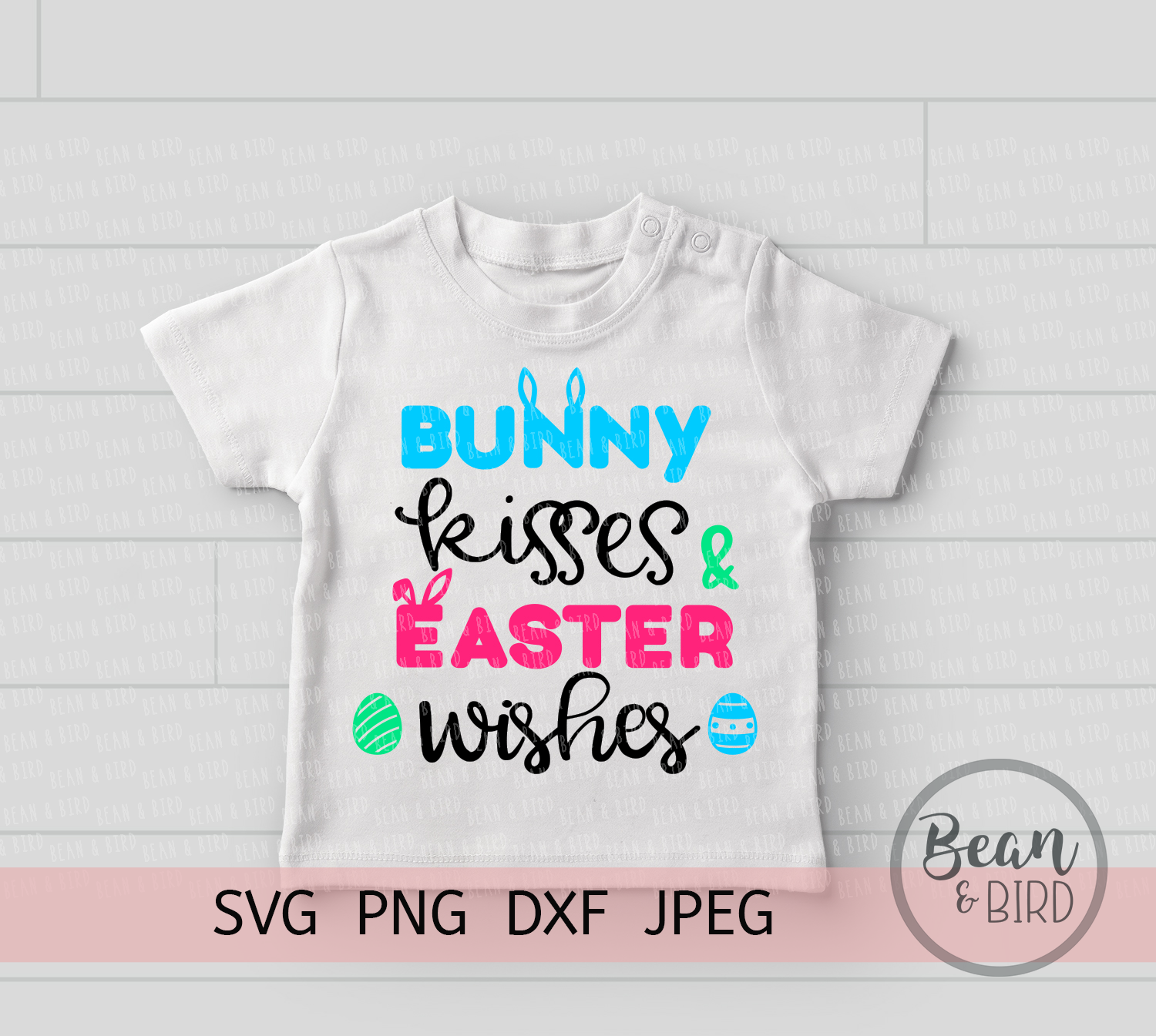 Bunny Kisses Easter Cut File example image 2