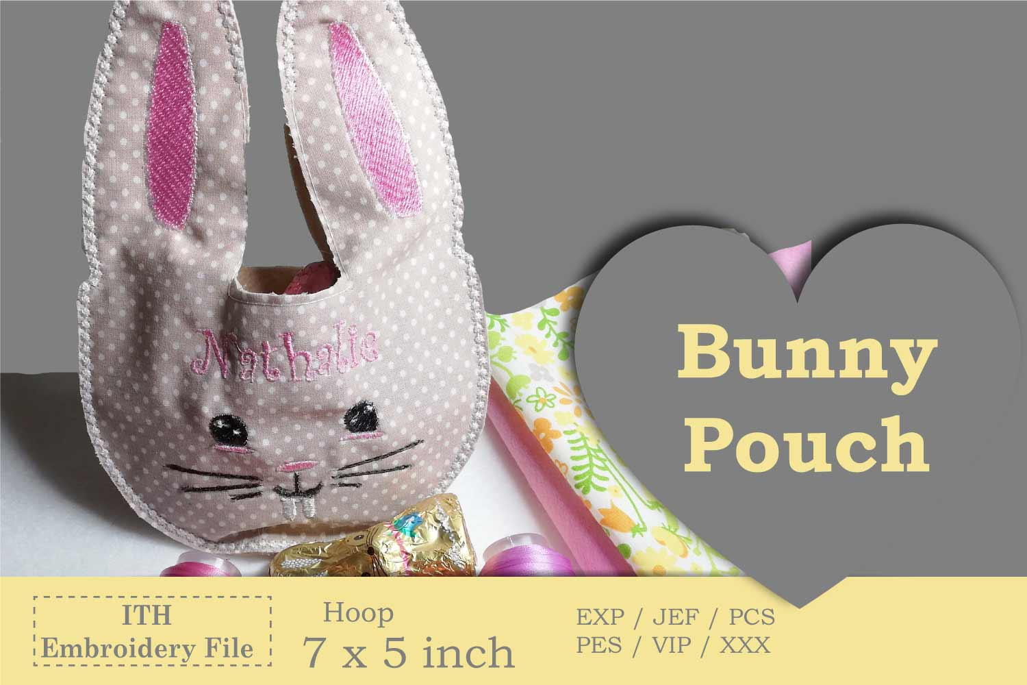 ITH - Bunny Pouch - Great idea for last minute gift example image 2
