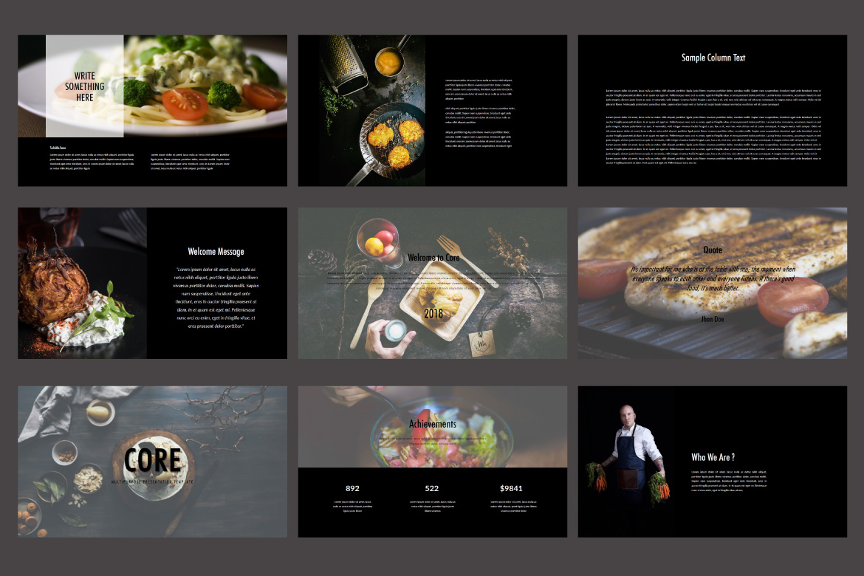 Core - Food Keynote Dark Template example image 2