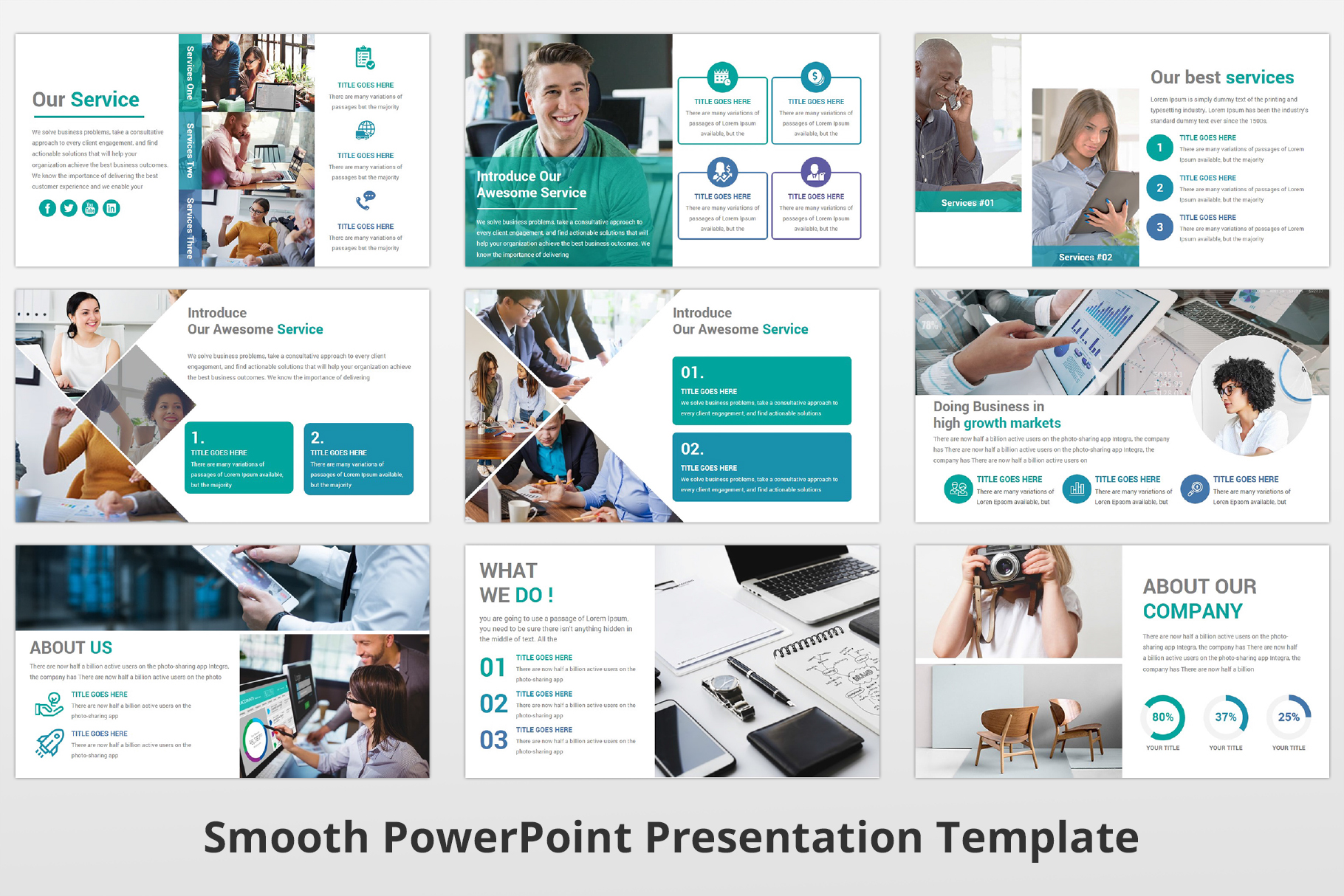 Smooth multipurpose PowerPoint Presentation Template example image 5