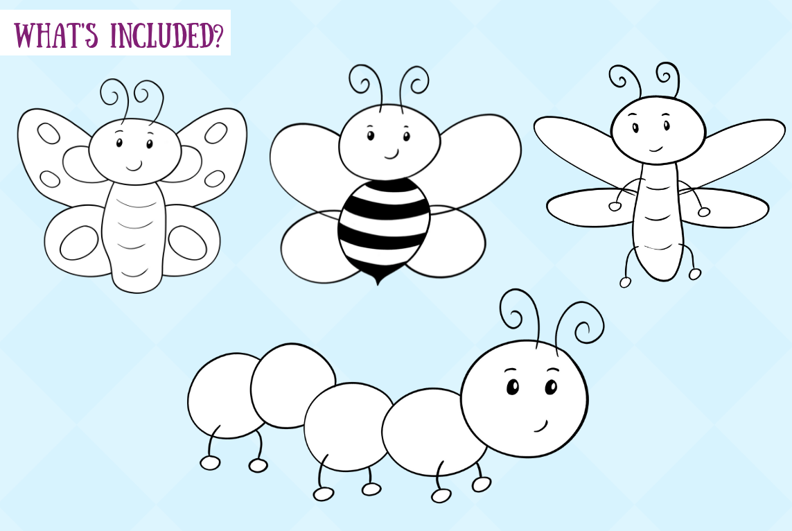 Bugs and Creepy Crawlers Digital Stamps example image 2