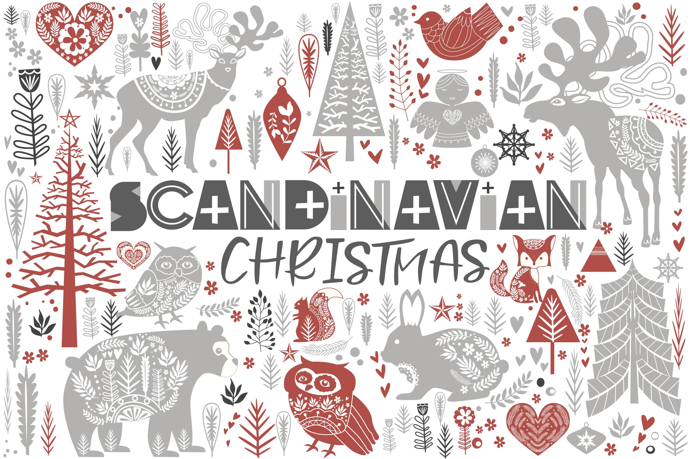 Scandinavian Christmas set example image 1