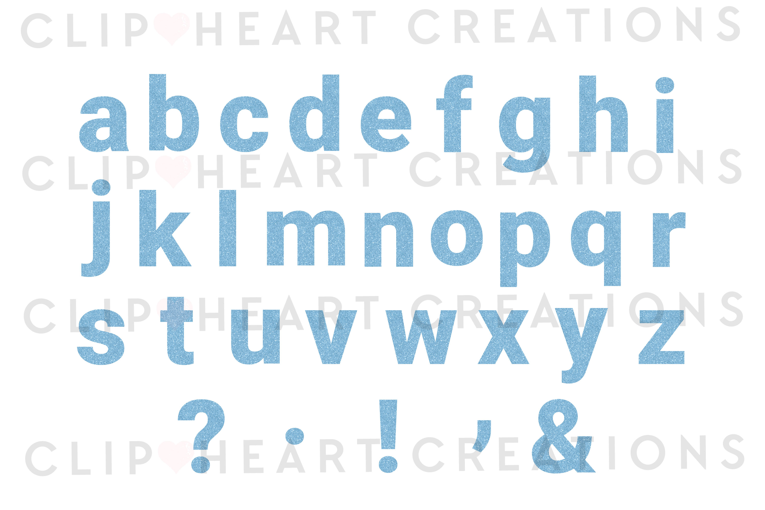 Blue Glitter Alphabet & Numbers with Symbols example image 3