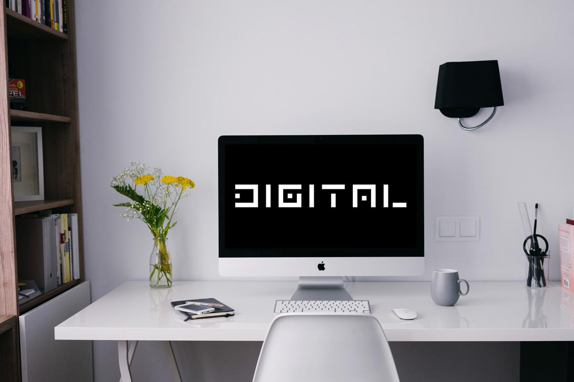 Digital font. English alphabet example image 5