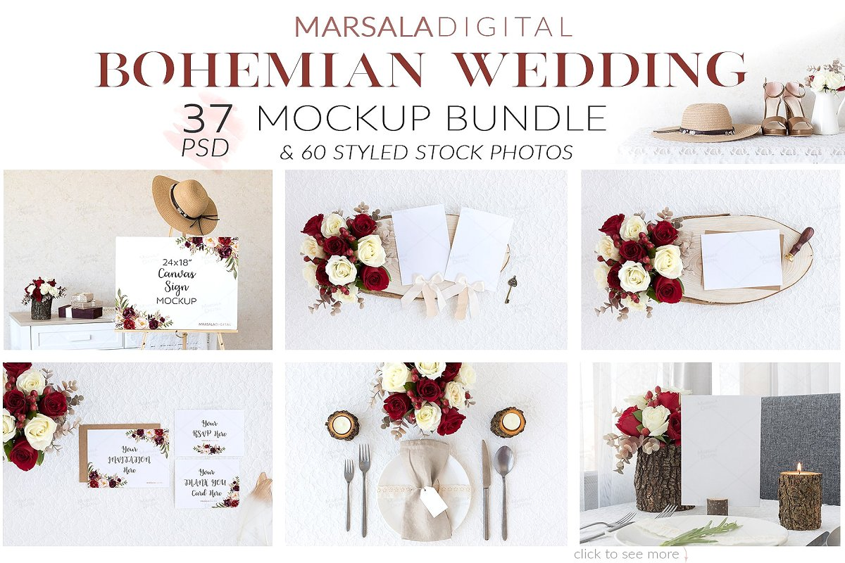 Wedding Mockup Bundle 400 Massive Wedding Mockups Bundle example image 6