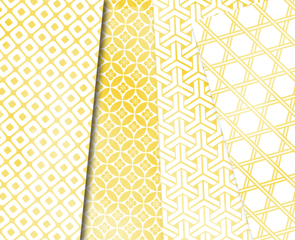 Yellow Watercolor Digital Paper Japan Background Patterns Soft Blue example image 4
