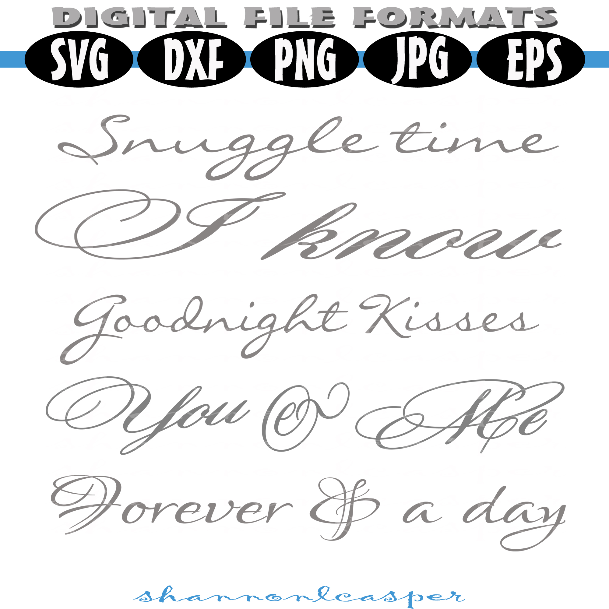 Romantic Wood Sign SVG Bundle example image 3