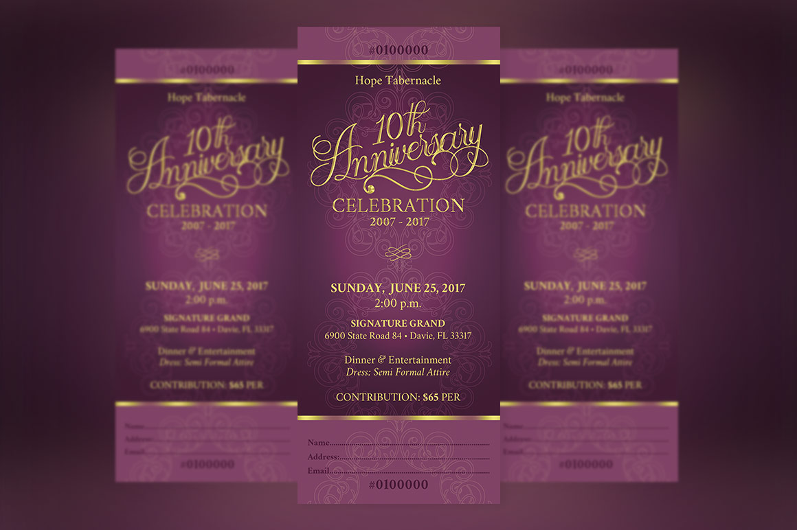Church Anniversary Banquet Ticket example image 3