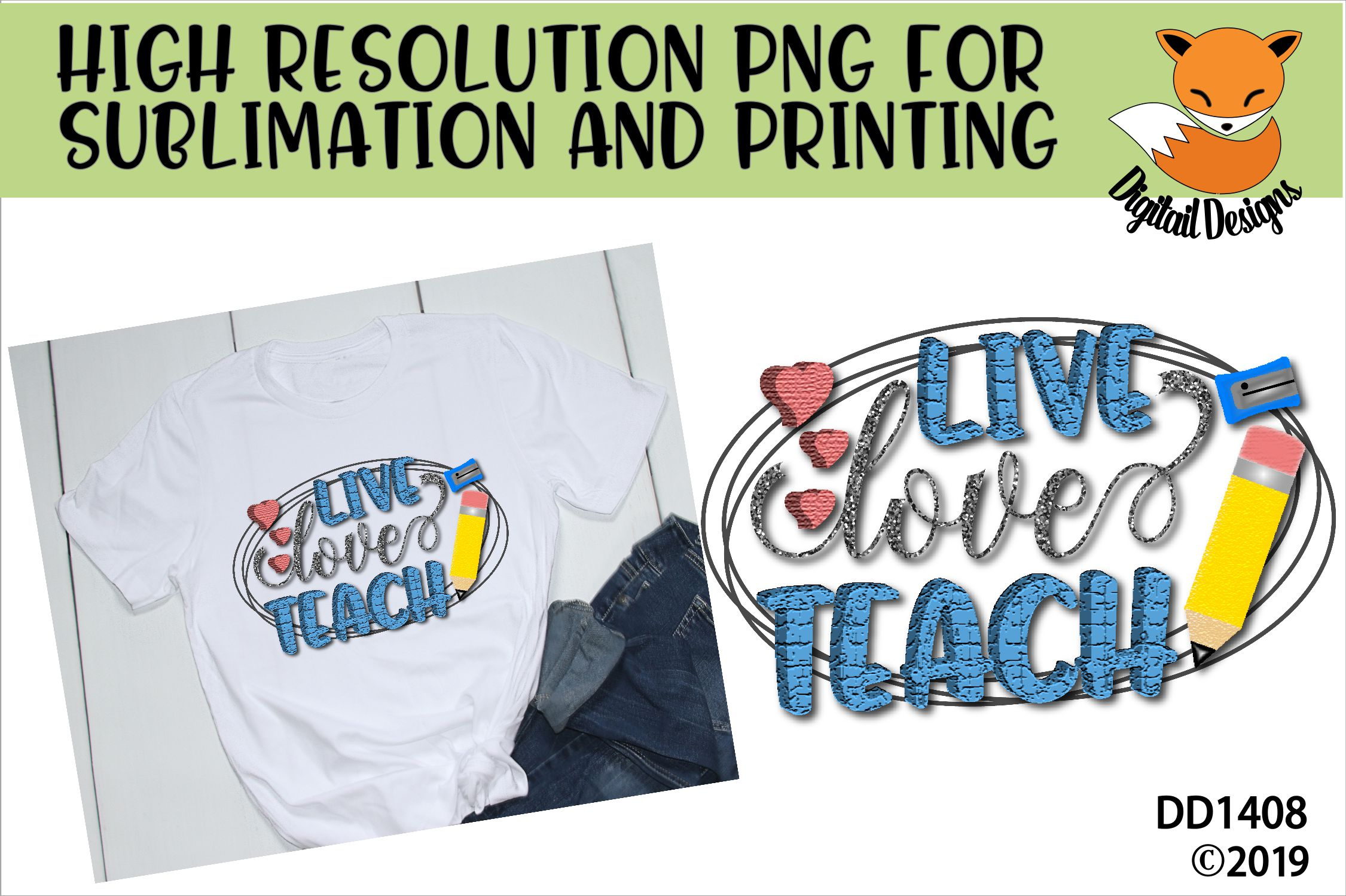 Teacher PNG for Sublimation example image 1