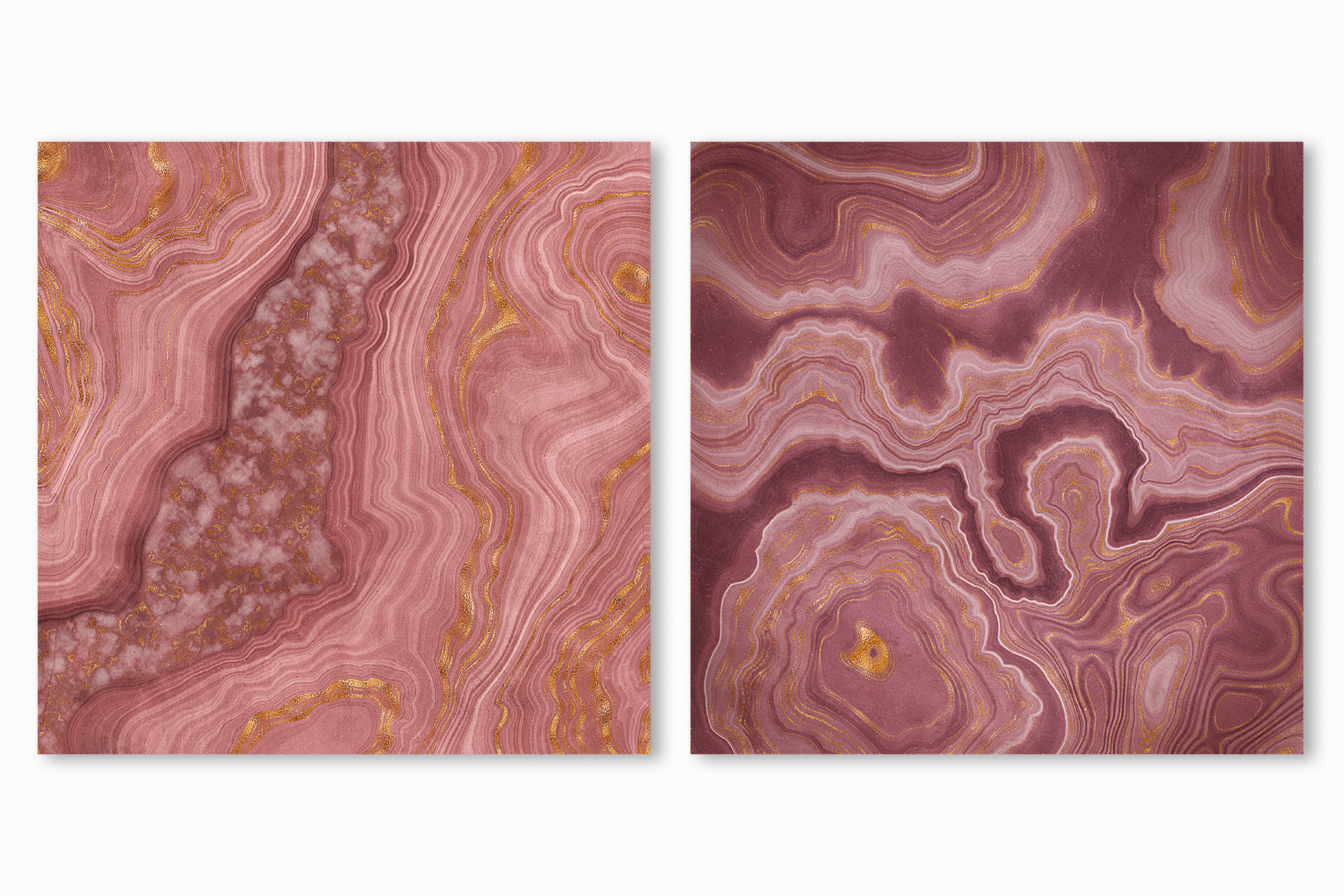 Pink Agate Illustrations, Textures & Patterns example image 7